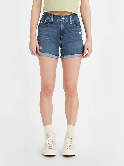 Mid Length Womens Shorts