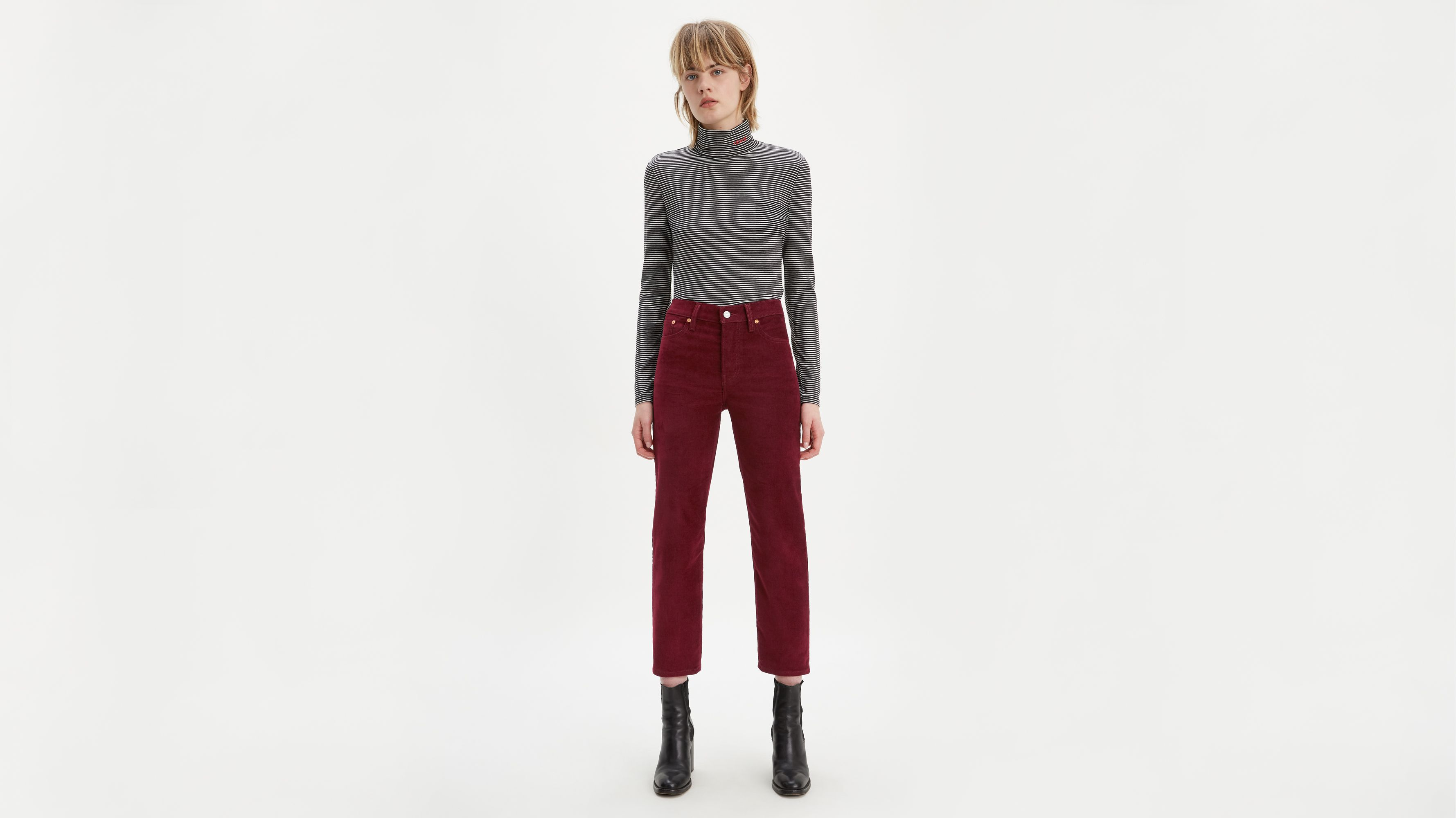 Wedgie Fit Straight Corduroy Pants