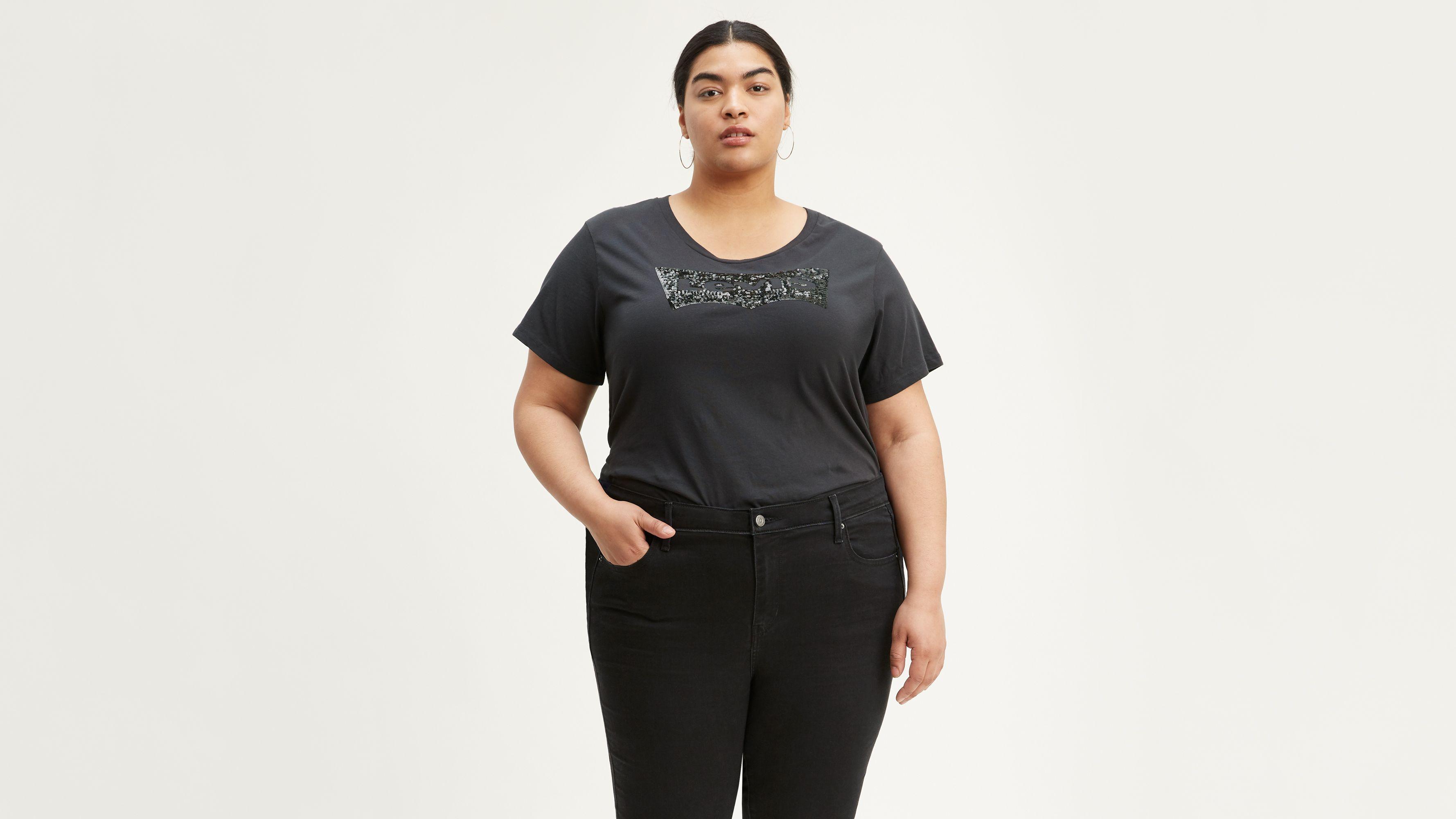 Levi's® Logo Sequin Tee Shirt (Plus Size)