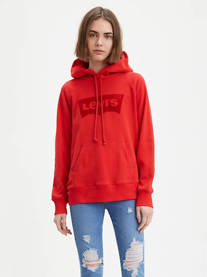 Graphic Sport Hoodie - Rot / Brilliant Red | Bekleidung > Sweatshirts & -jacken | Rot|brilliant red | Levi's