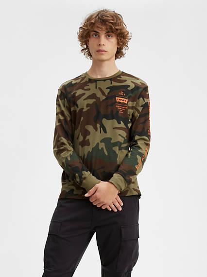 Camo Levi's® Logo Long Sleeve Tee Shirt