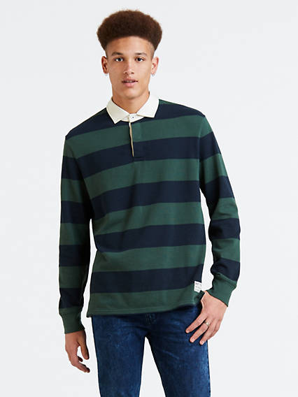 Long Sleeve Mighty Rugby Polo