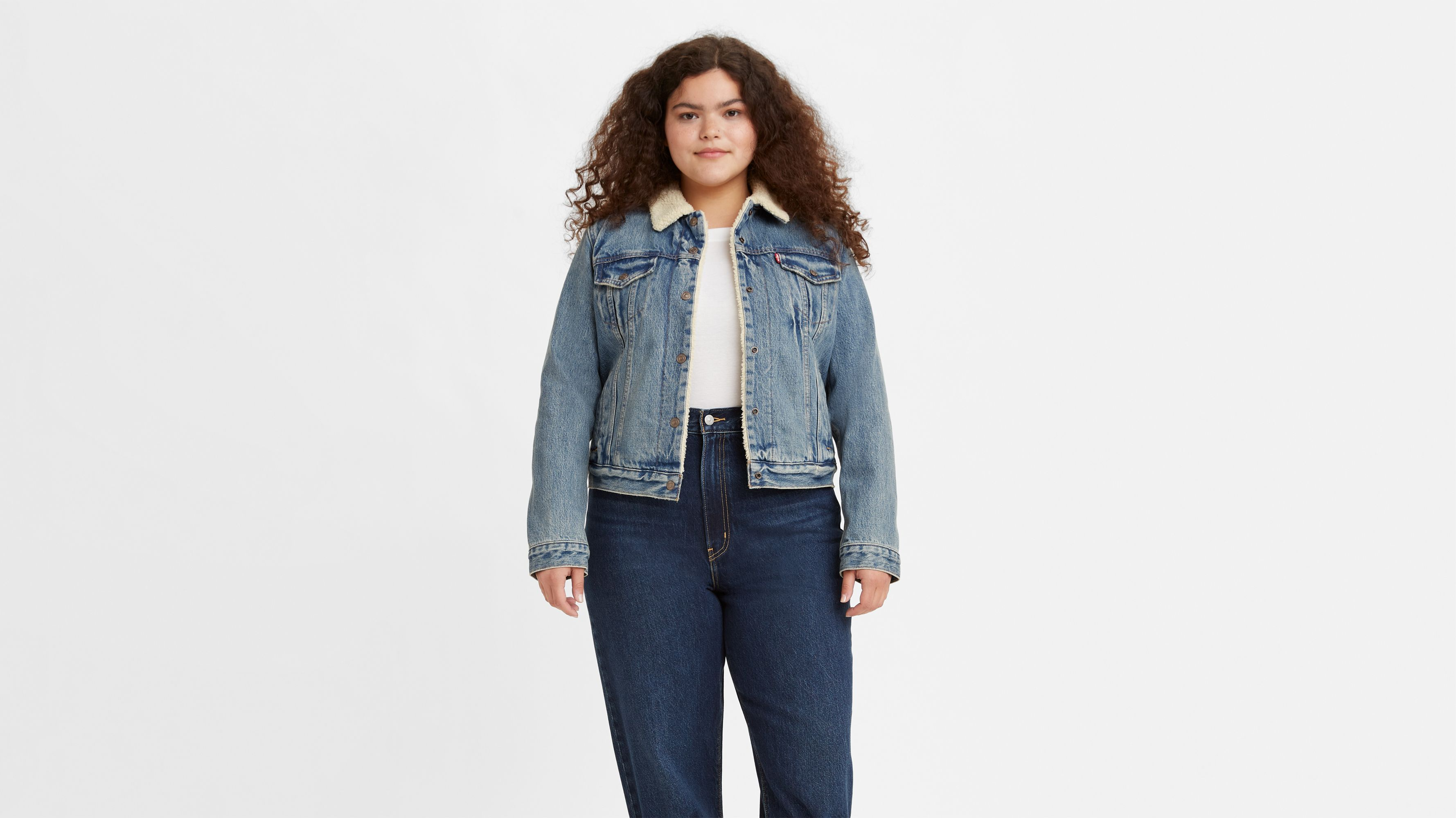 Women/'s New Ex Store Denim Jacket  Blue Mid Wash