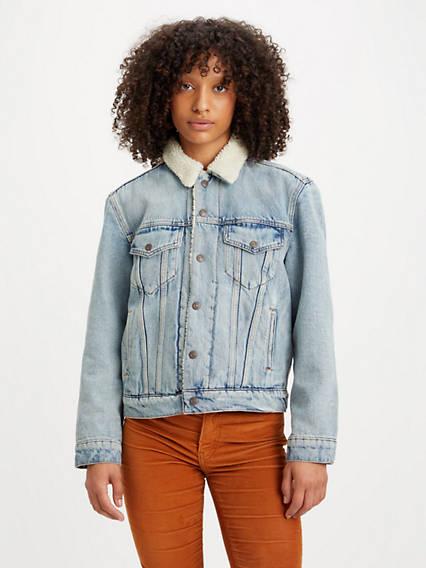 Veste jeans femme col rond