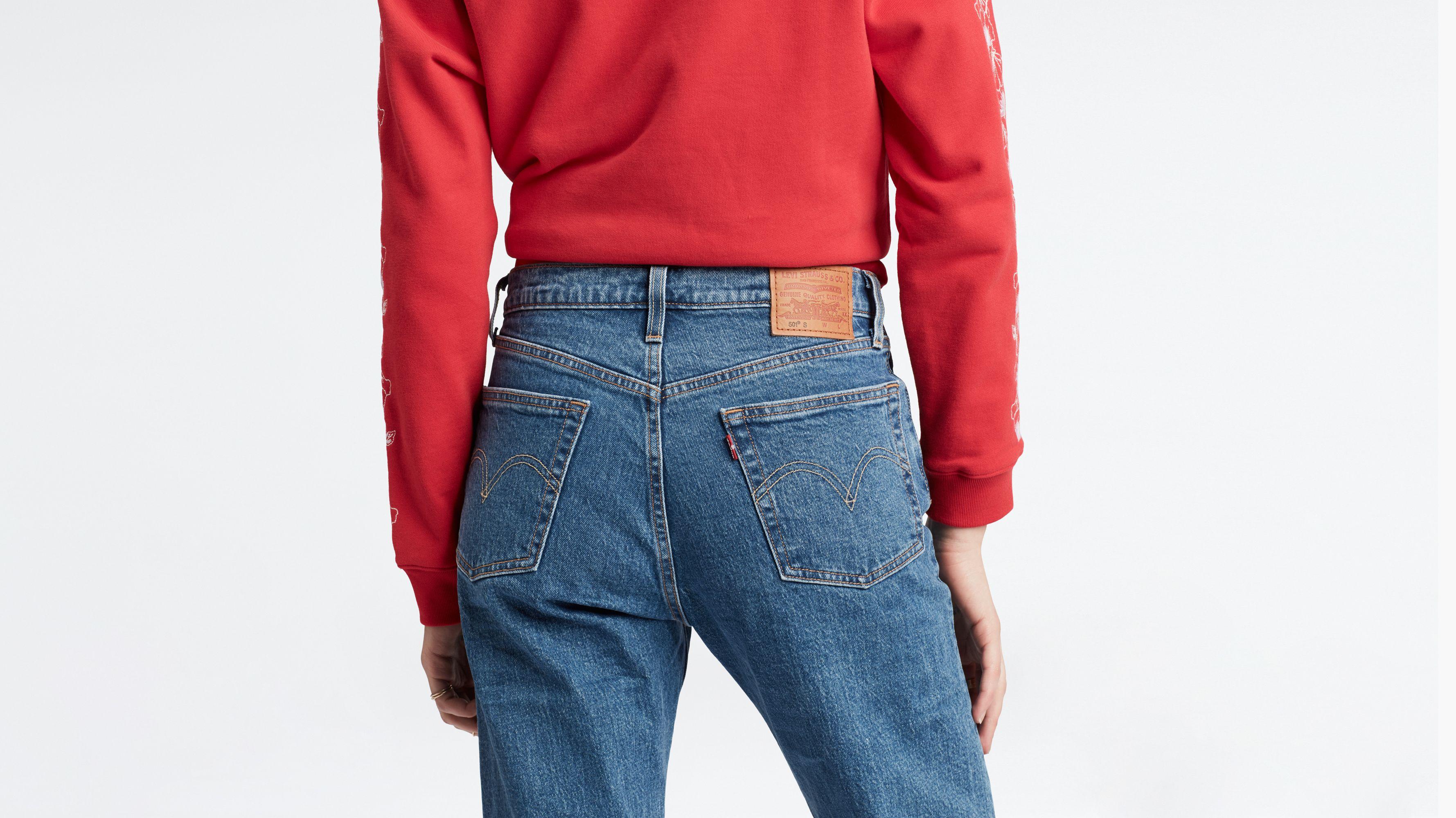 Jeans da donna Donna Taglie Forti Taglio Diritto Jeans Denim Blu 16 18 20 22 24 26 28 30 32 Crop Abbigliamento Denim