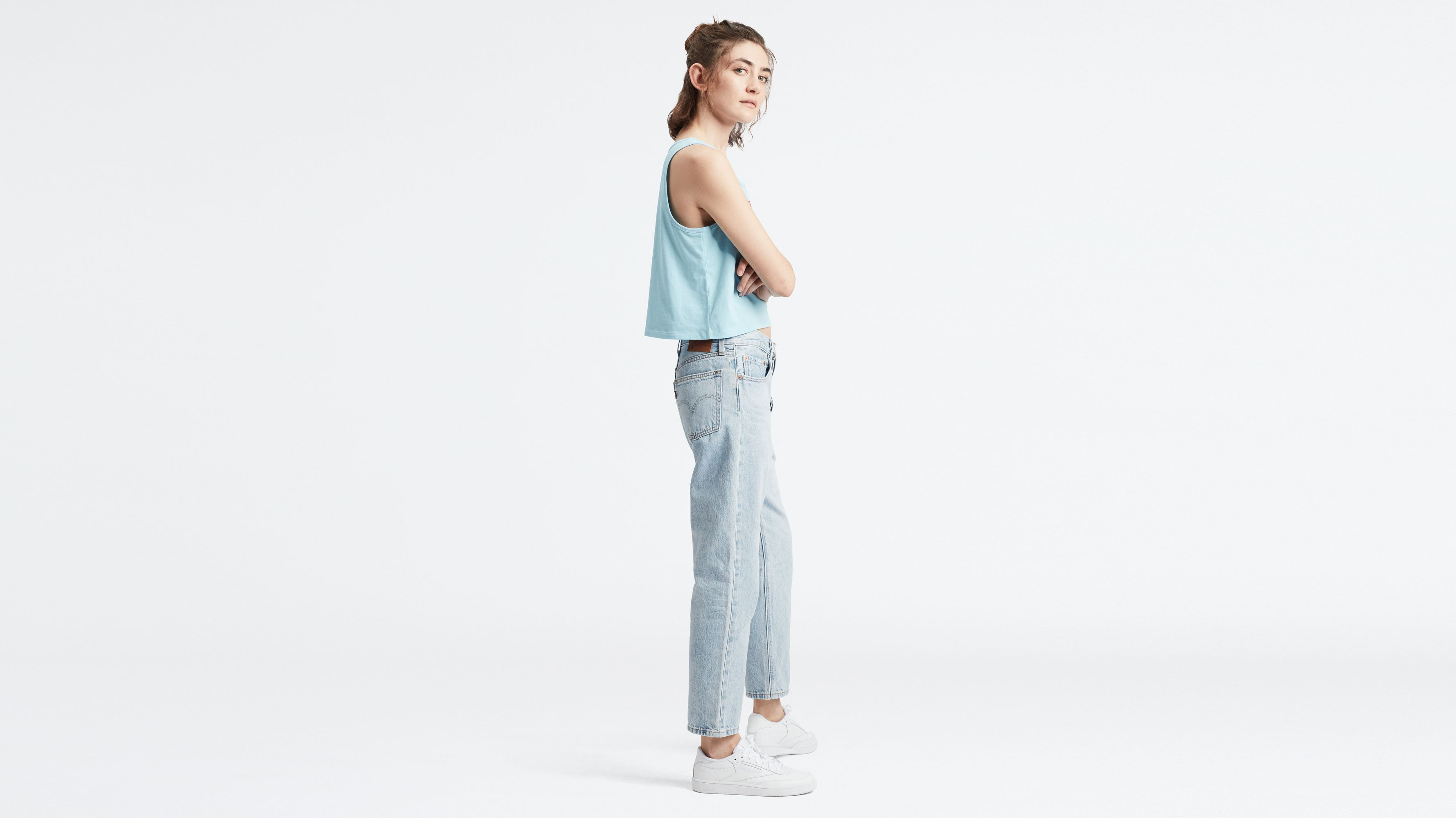 womens levi cropped jeans