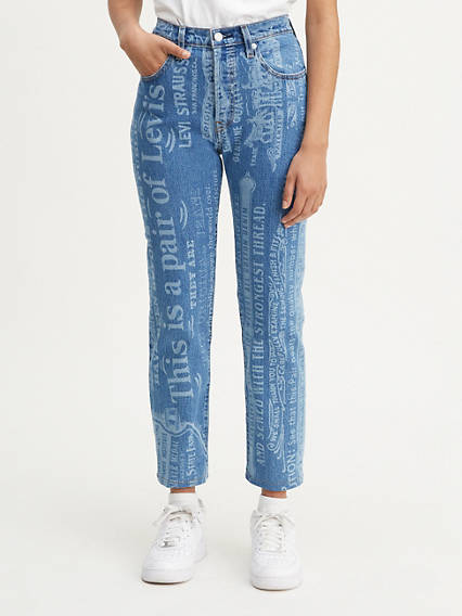 501® Original Cropped Women's Jeans All Over Print