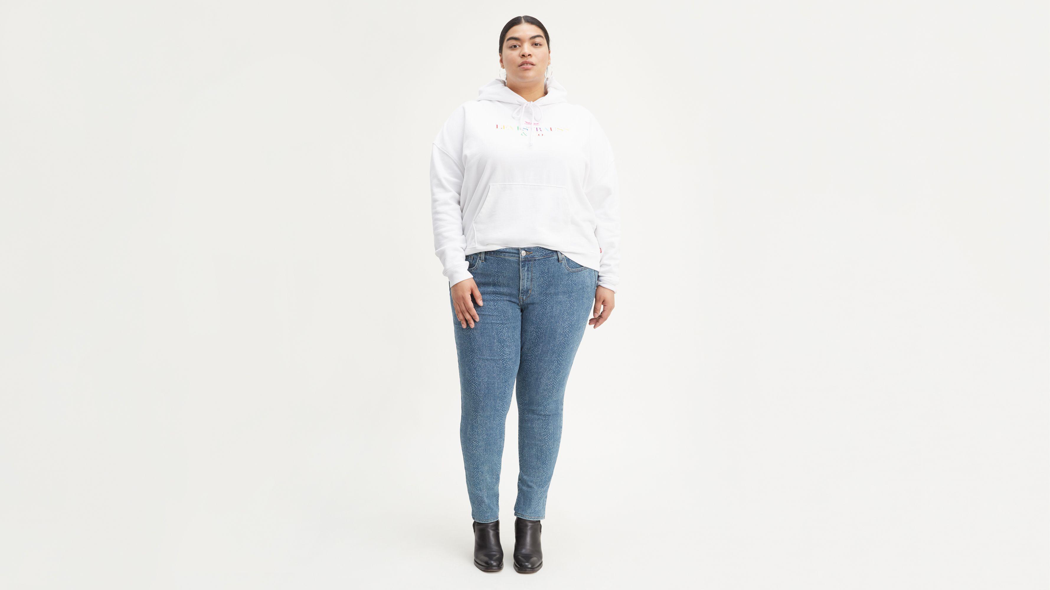 711 Skinny Laser Printed Women's Jeans (Plus Size)