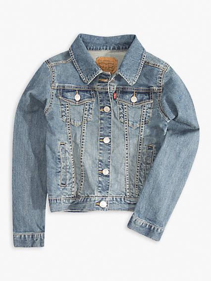 Little Girls 4-6x Denim Trucker Stretch Jacket