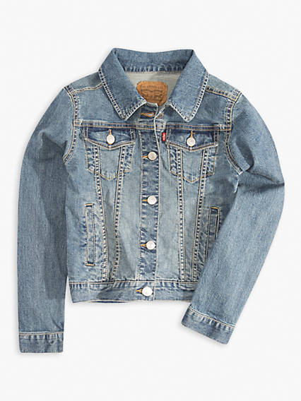 Big Girls Denim Trucker Stretch Jacket