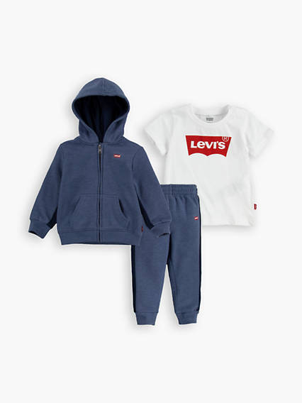 Baby Boys Fleece Logo 3-Piece Set
