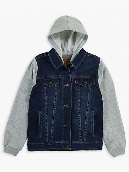 Big Boys Hooded Hybrid Trucker Jacket