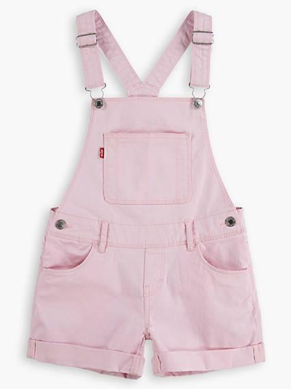 Little Girls 4-6x Denim Shortalls