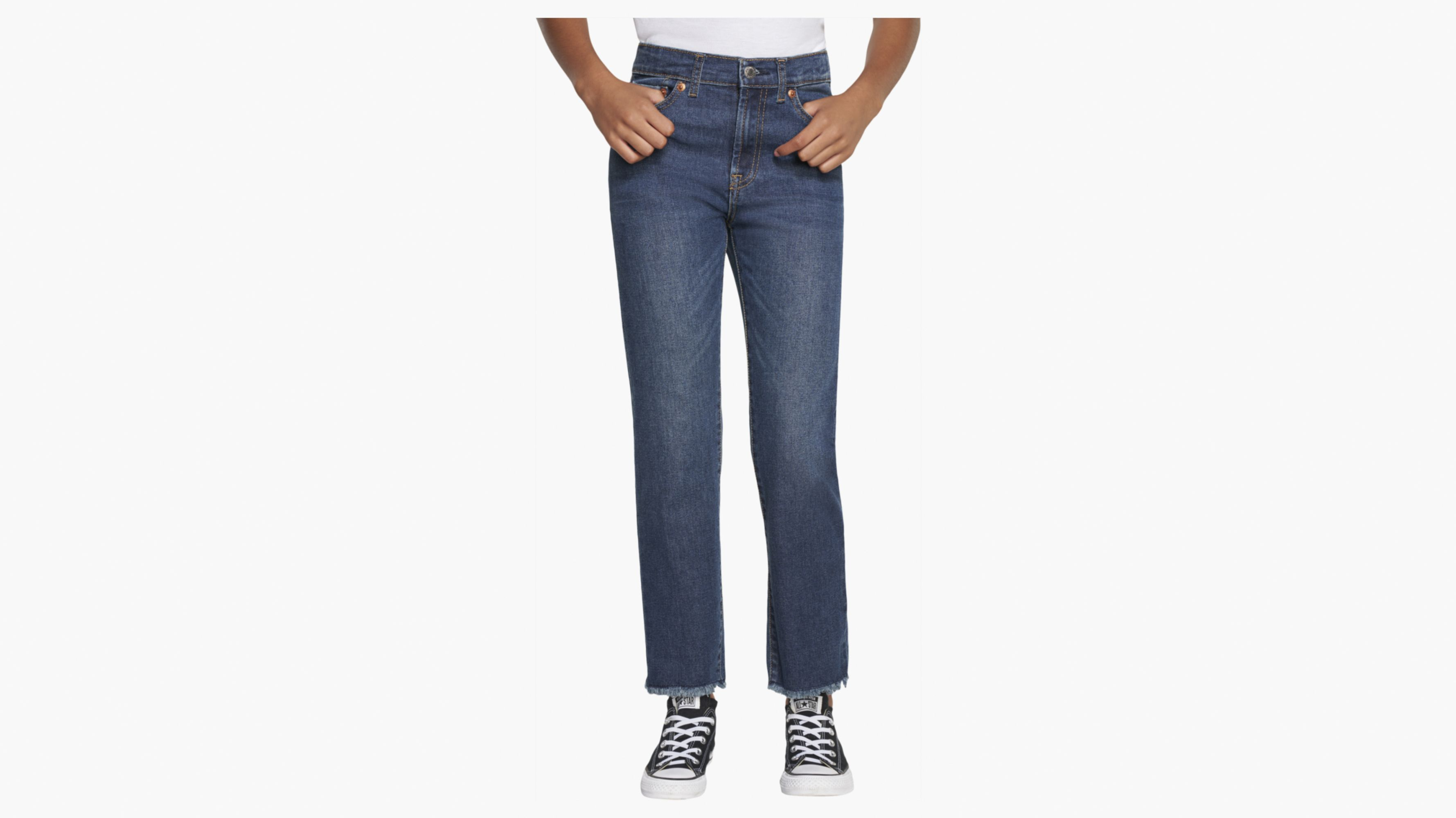 Big Girls 7-16 High Rise Straight Ankle Jeans