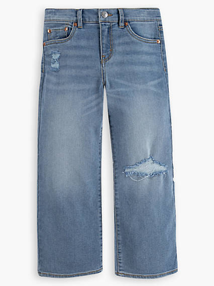 Cropped Wide Leg Little Girls Jeans 4-6x