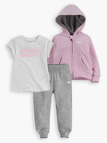 Baby Girls Logo 3-Piece Set