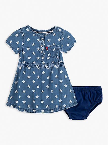 Baby 12-24M Dot Denim Dress