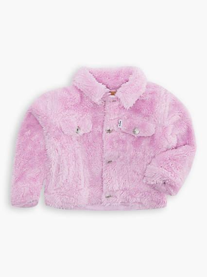 Baby Girls Sherpa Trucker Jacket