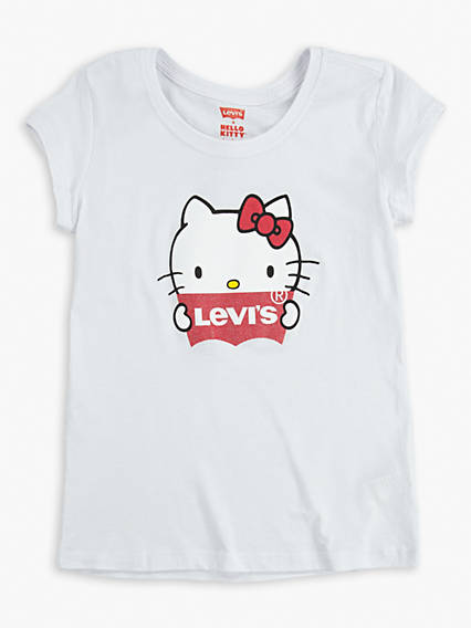 Big Girls Levi's® x Hello Kitty Logo Tee Shirt