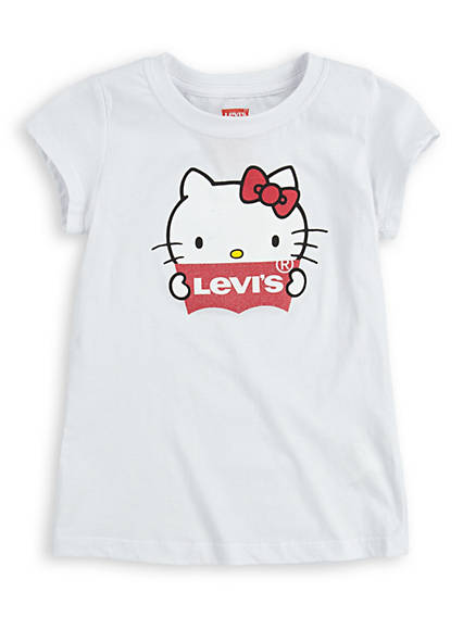 Little Girls 4-6x Levi's® x Hello Kitty Logo Tee Shirt