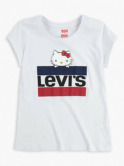 Big Girls Levi's® x Hello Kitty Sportswear Logo Tee Shirt
