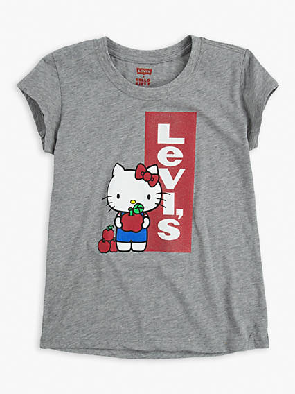 Big Girls Levi's® x Hello Kitty Red Tab Tee Shirt