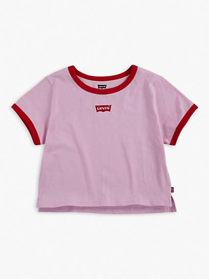 Big Girls Classic Levi's® Logo Cropped Tee Shirt