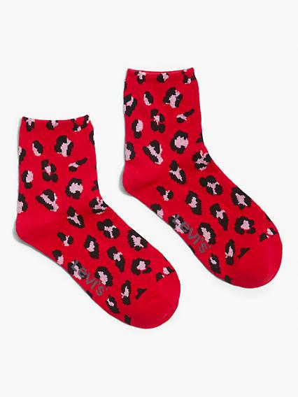Leopard Print Short Socks