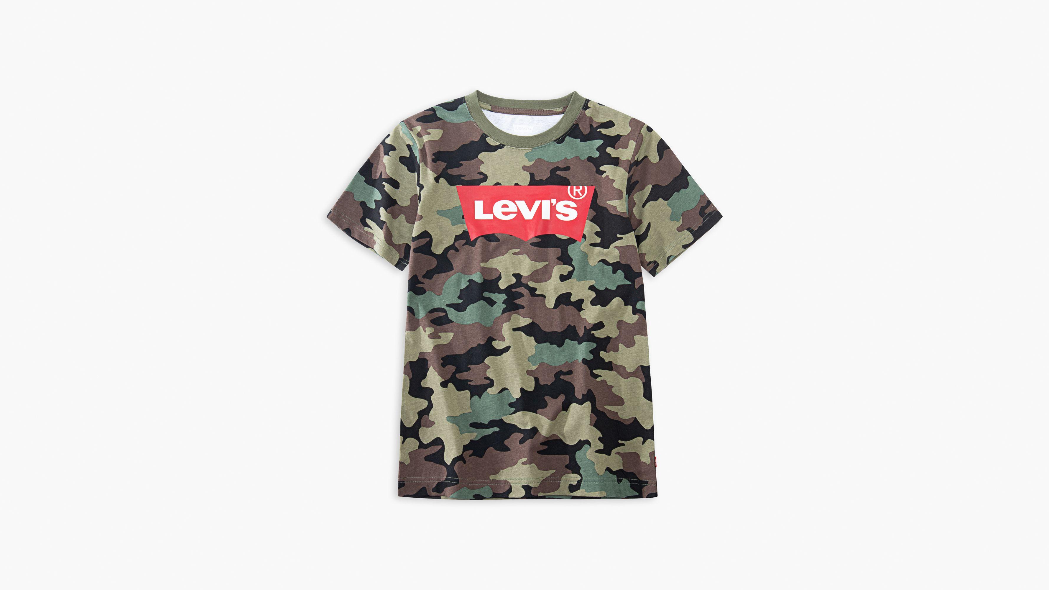 Big Boys Camo Levi's® Logo Tee Shirt