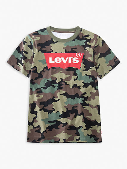 Big Boys Camo Levi's® Logo Tee Shirt