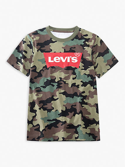 Little Boys 4-7x Camo Levi's® Logo Tee Shirt