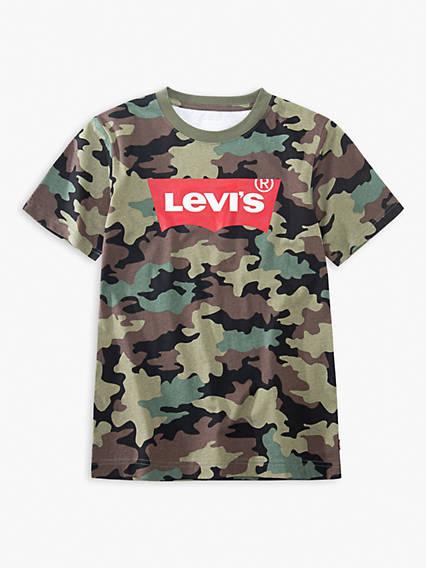 Little Boys 4-7x Camo Levi's® Logo Tee Shirt