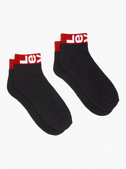 Levi's Mid Cut Ankle Socks - Men's 1 Heavy duty socks made with combed cotton for the long haul