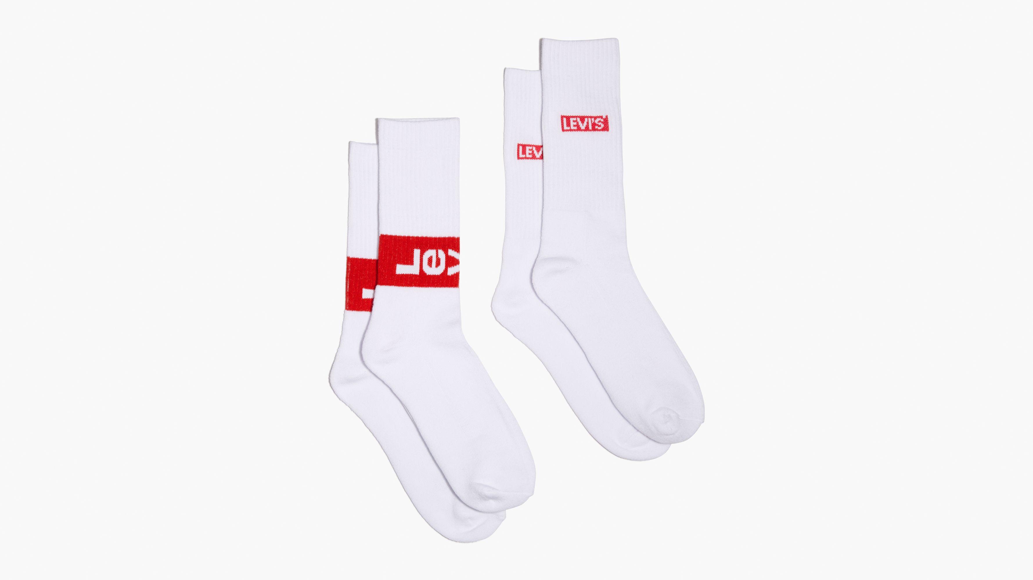 Levi's00ae Regular Cut Socks (2 Pack)