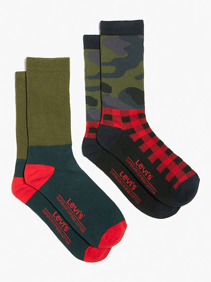 Levi's® Regular Cut Socks (2 Pack)