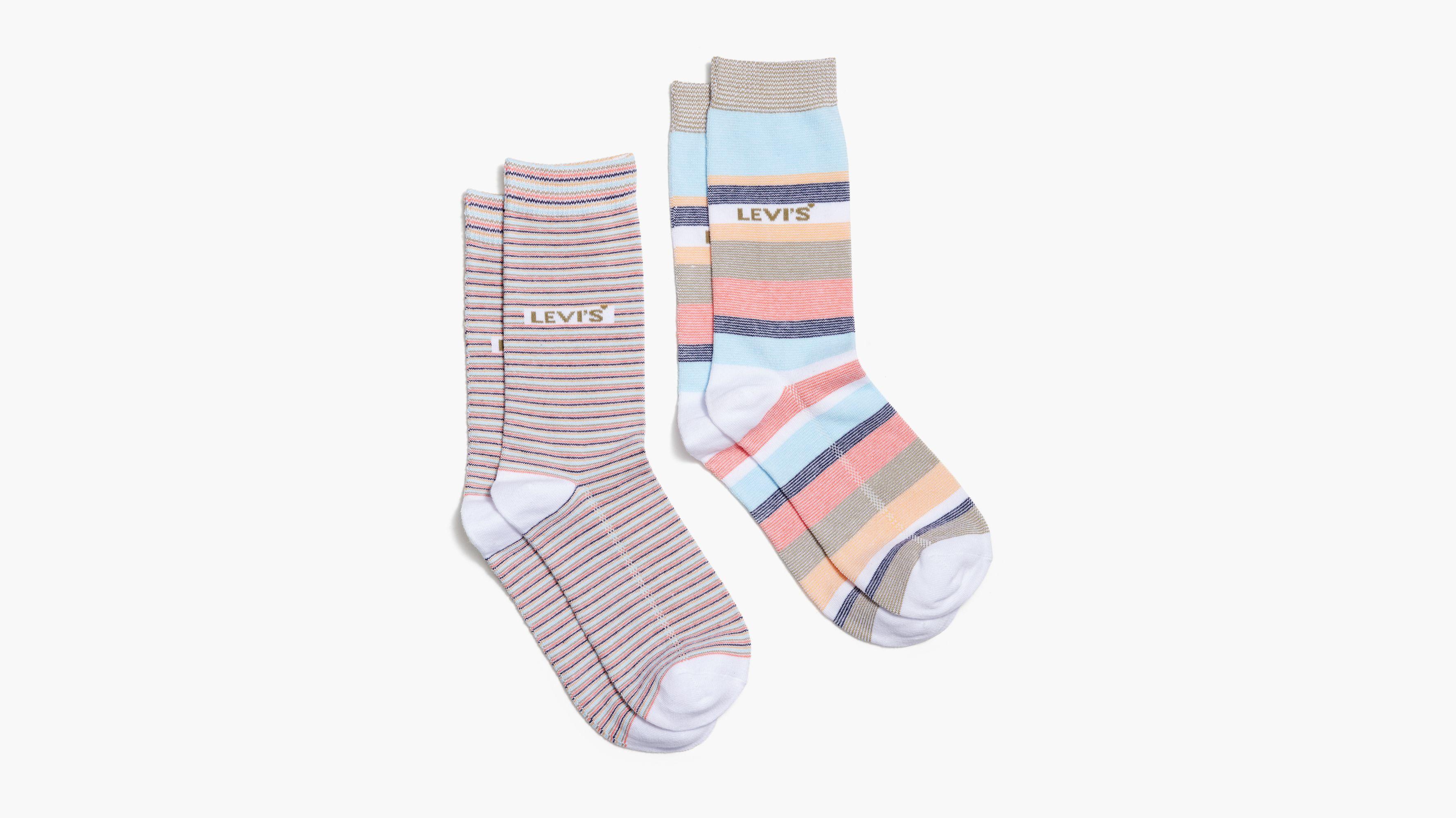 Levi's® Crew Cut Striped Socks (2 Pack)