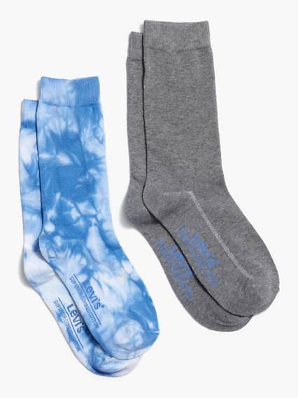 Levi's® Crew Cut Tie Dye Socks (2 Pack)