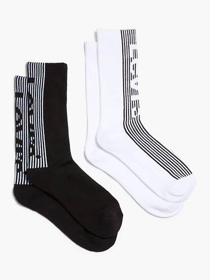 Levi's® Logo Crew Cut Socks (2 Pack)