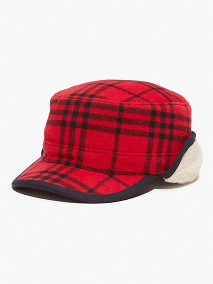 Winter Plaid Trapper Hat