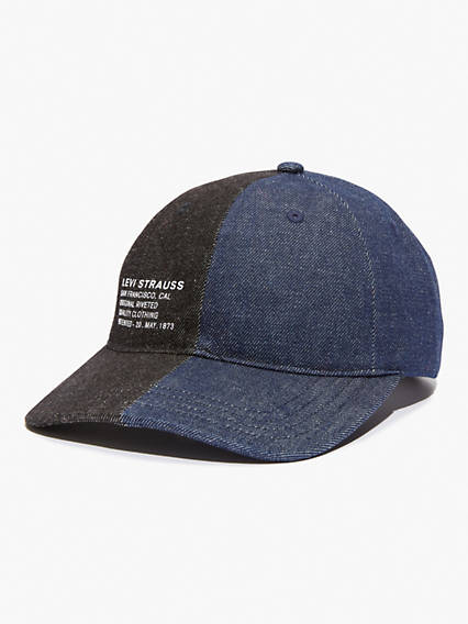 Split Denim Baseball Hat