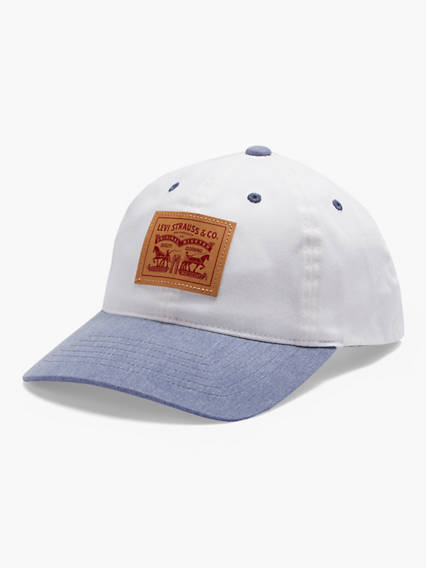 Two-Horse Patch Denim Baseball Cap