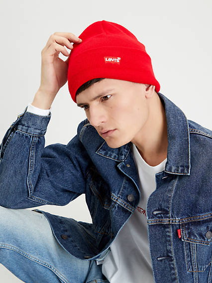 Red Batwing Beanie