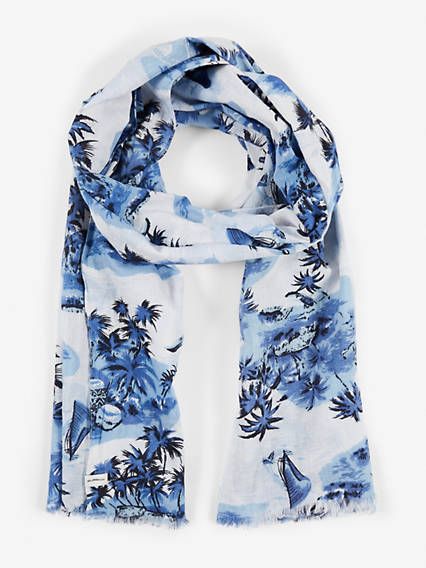 Tropical Repeat Oblong Scarf