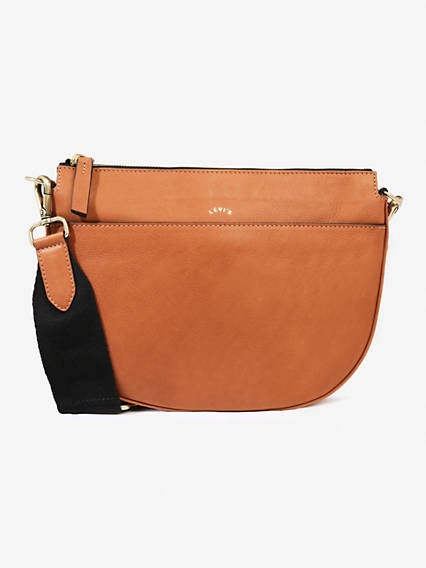 Leather Zip Top Saddle Bag Bag