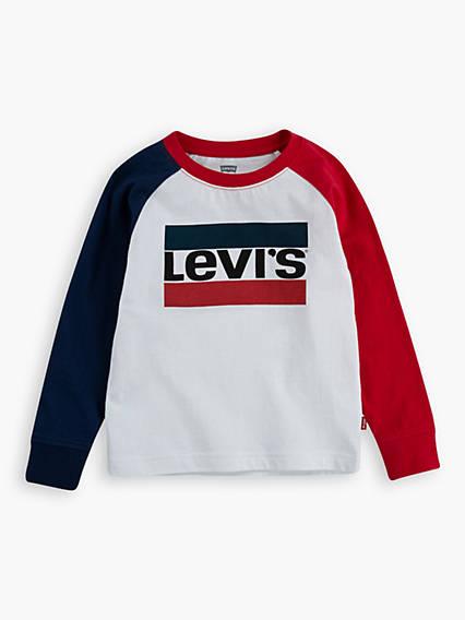 Baby Boys Longsleeve Colorblock Sportswear Logo Tee Shirt