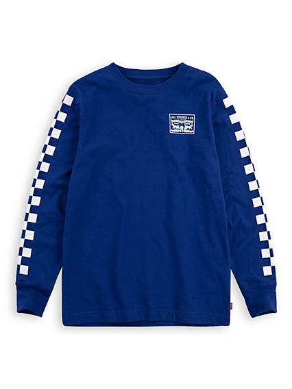 Big Boys Ls Checkered Graphic Tee