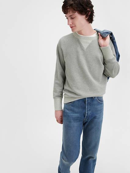 Men's Vintage Sweaters, Retro Jumpers 1920s to 1980s Levis 1955 501 Original Fit Mens Jeans 36x34 $189.98 AT vintagedancer.com