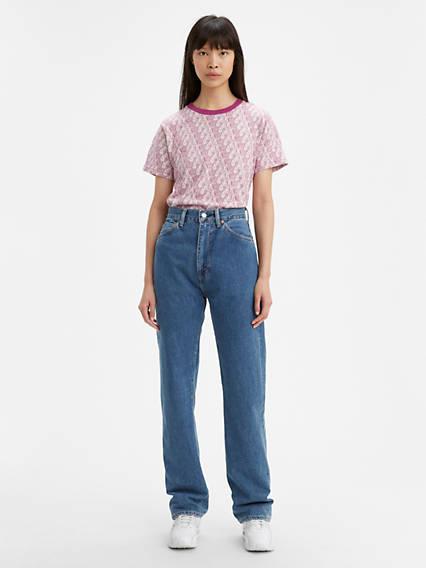 Vintage High Waisted Trousers, Sailor Pants, Jeans Levis 1950S 701 Womens Jeans 31 $278.00 AT vintagedancer.com
