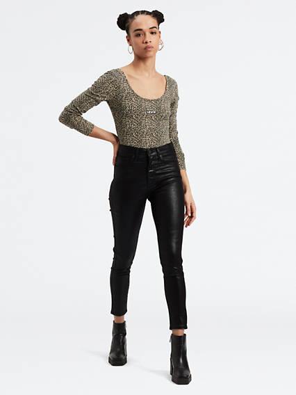 Mile High Ankle Skinny Jeans - Schwarz / Black Serpent Foil   Bekleidung > Jeans   Levi's