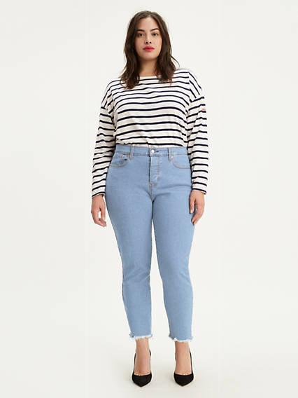 Wedgie Skinny Jeans (Plus Size)